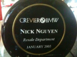 Crevier BMW Top Sales Jan 2007